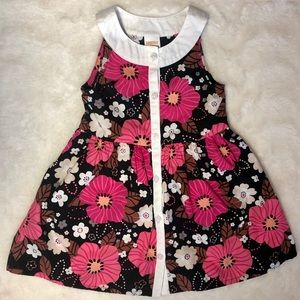 Gymboree 2T floral button down dress